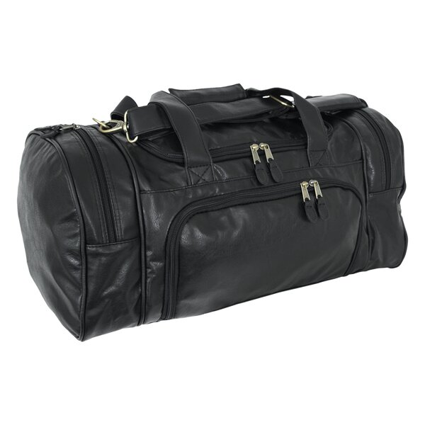 Highland II Series 21 Leather Carry-On Duffel by Mercury Luggage