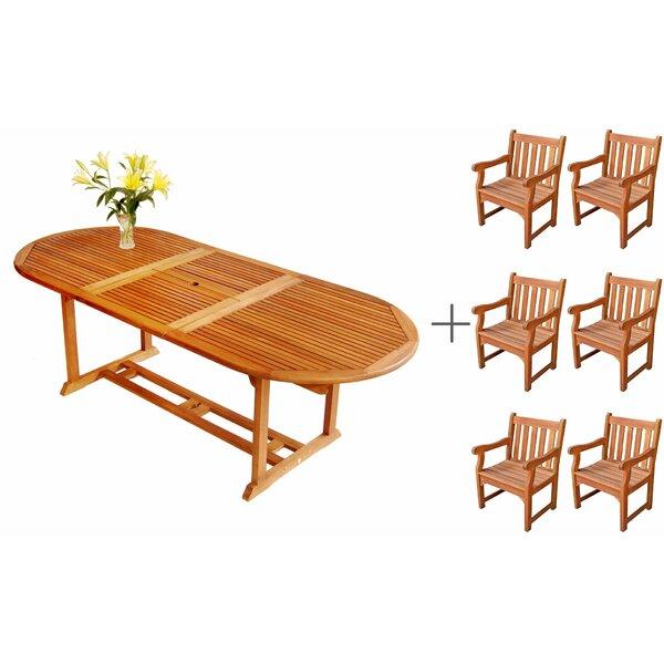 LuuNguyen 7 Piece Dining Set by ALK Brands