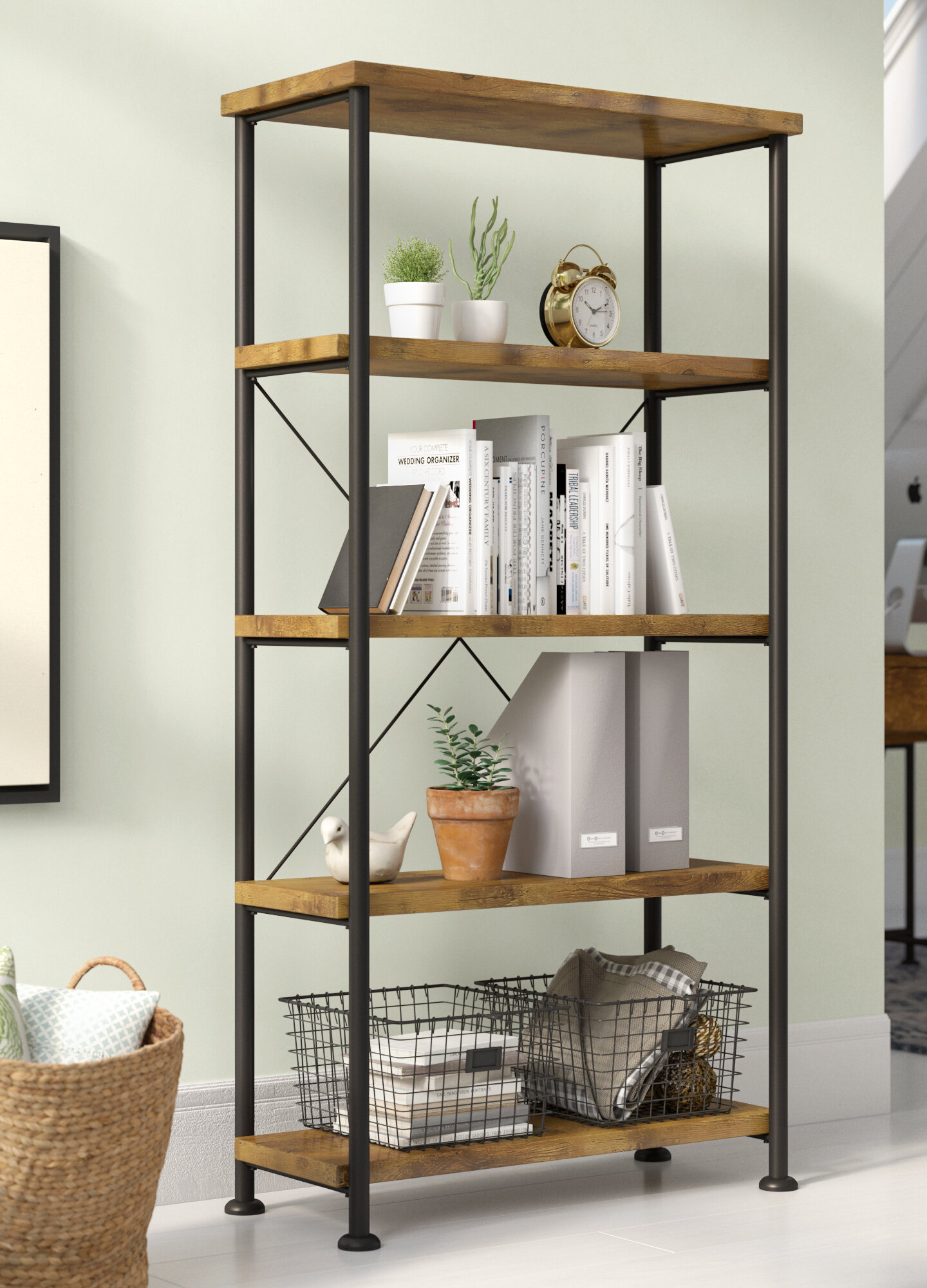 Laurel Foundry Modern Farmhouse Epineux Etagere Bookcase Reviews
