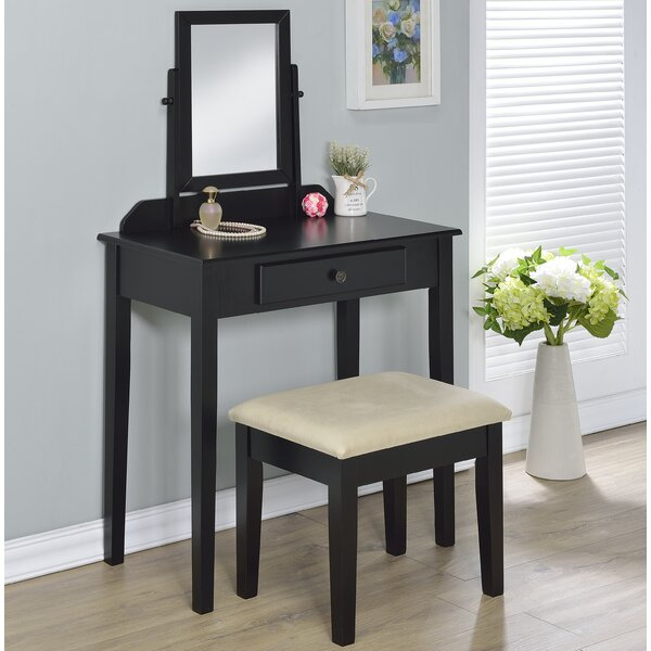 Percival Vanity Set with Mirror by Charlton Home