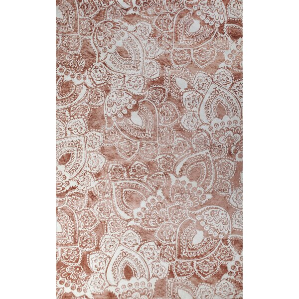 Farina Hand-Woven Coral/ivory Indoor Area Rug by Tuft & Loom