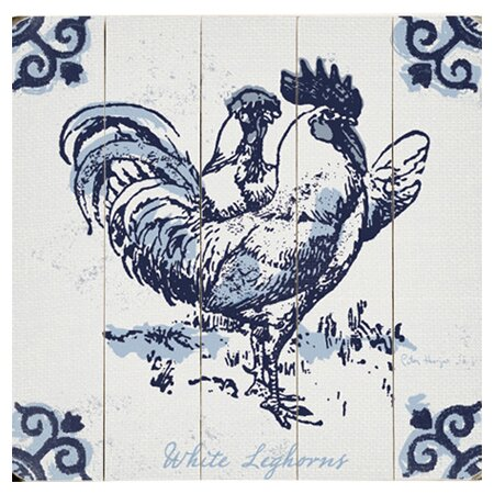 White Leghorn Graphic Art Print Multi-Piece Image on Wood by Artehouse LLC