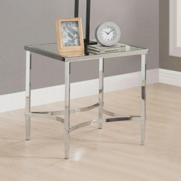 Ulen Modern Square Metal Frame End Table by Orren Ellis