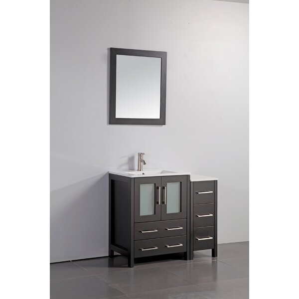 Karson 36 Bathroom Vanity Set with Mirror by Wade Logan