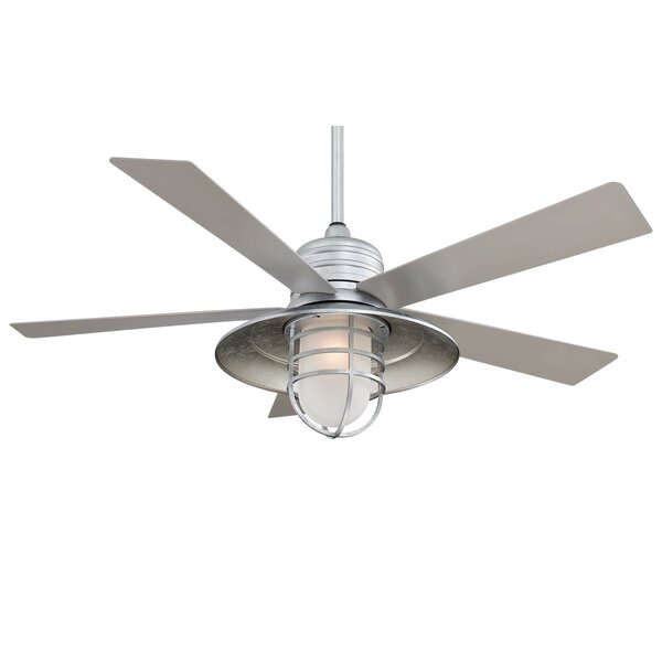 54 RainMan 5 Blade Outdoor LED Ceiling Fan by Minka Aire