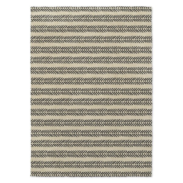 Inspired Ivory/Black Area Rug by Foundry Select
