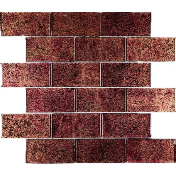 2 x 4 Glass Tile in Purple by Multile