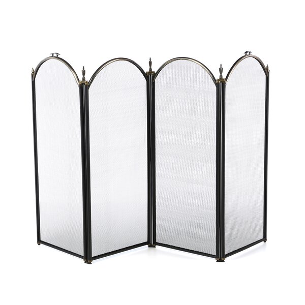 4 Panel Steel Fireplace Screen By Uniflame