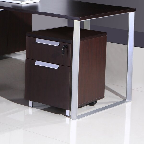 Modular Laminate 2-Drawer Mobile Vertical Filing Cabinet by Boss Office Products