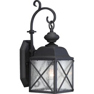 Coupon Topeka 1-Light Outdoor Wall Lantern By Three Posts