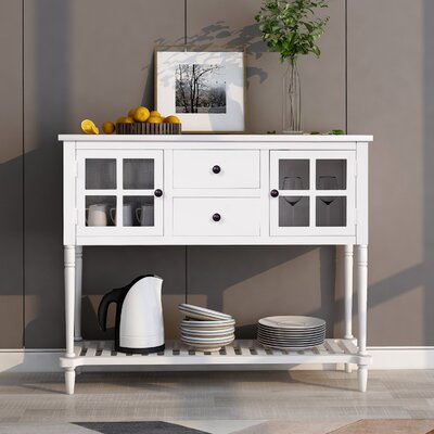 """Breakwater Bay Mceirath 42"""" Wide 2 Drawer Sideboard  Color: white"""