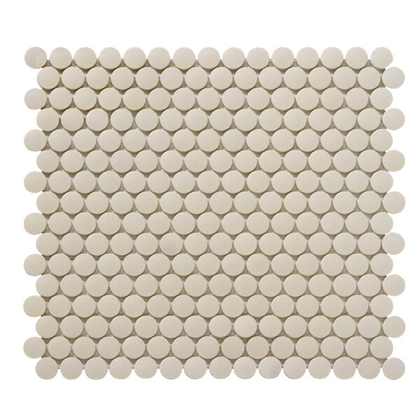 Zone 0.8 x 0.8 Porcelain Mosaic Tile in Fawn by Emser Tile