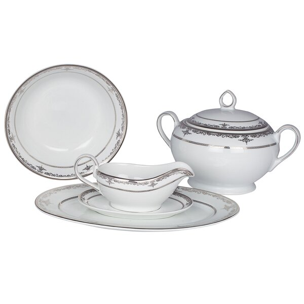 Pearl Harbor Fine China Special Serving 5 Piece Dinnerware Set by Shinepukur Ceramics USA, Inc.