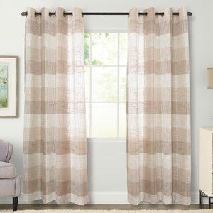 Niles Plaid Grommet Single Curtain Panel