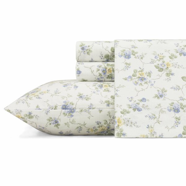 Le Fleur Flannel Sheet Set by Laura Ashley Home by Laura Ashley Home