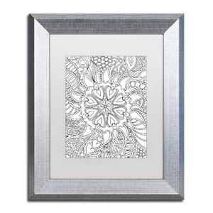 Mixed Coloring Book 61 by Kathy G. Ahrens Framed Graphic Art by Trademark Fine Art