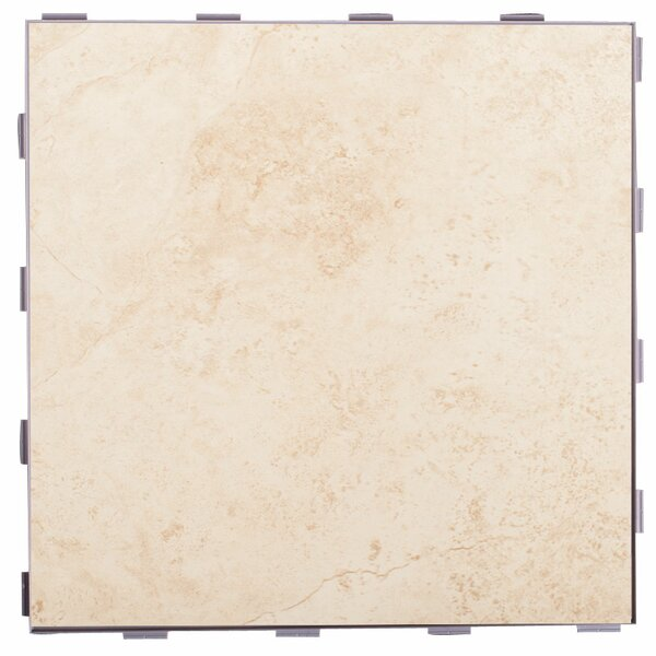 Classic ThinLine 12 x 12 Porcelain Field Tile in Beige by SnapStone