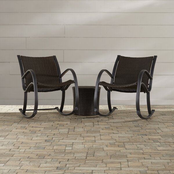 Elodia 3 Piece Seating Group by Highland Dunes