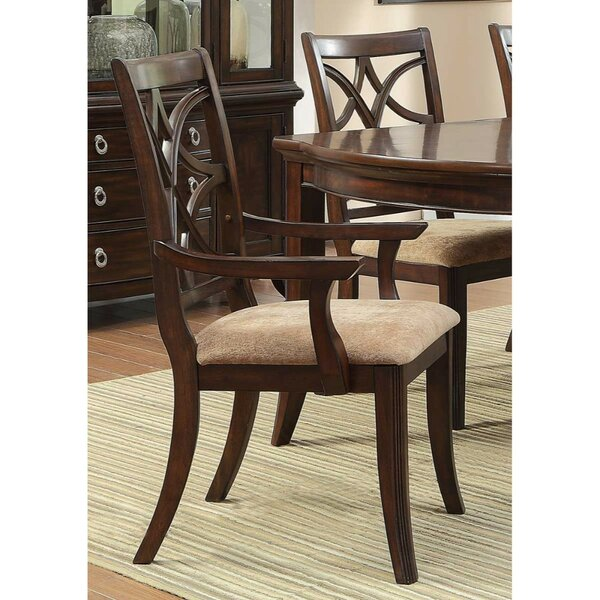 Clairsville Upholstered Dining Arm Chair (Set of 2) by Canora Grey