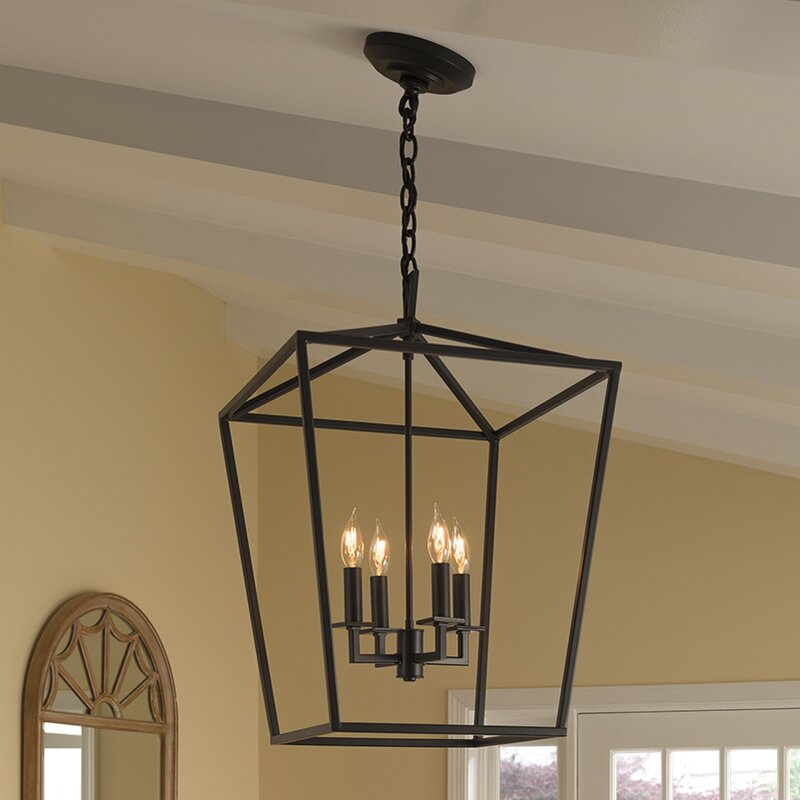 Norwell Lighting Cage 4 Light Foyer Pendant Amp Reviews