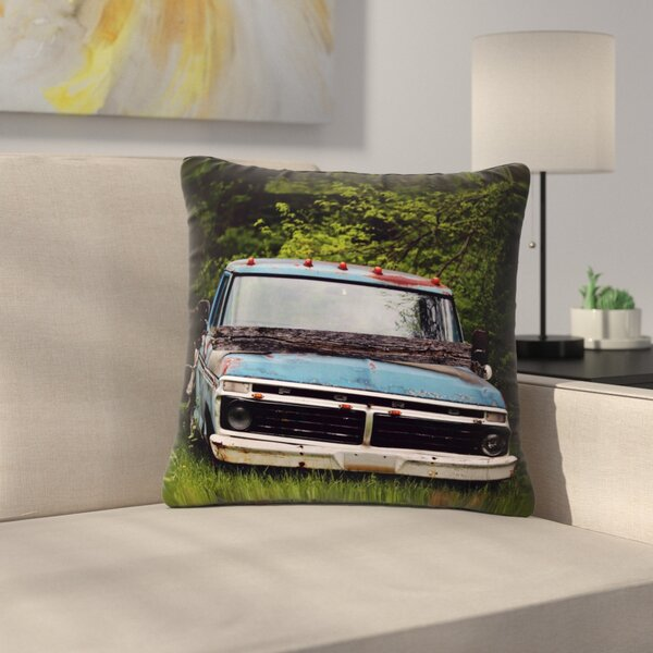 Angie Turner Old Ford Truck Digital Outdoor Throw Pillow by East Urban Home