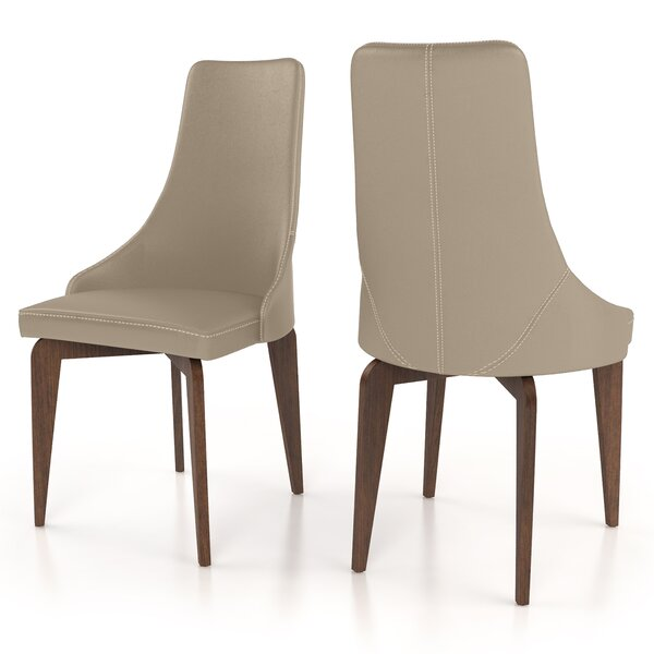 Hoyt Genuine Leather Upholstered Dining Chair (Set of 2) by 17 Stories