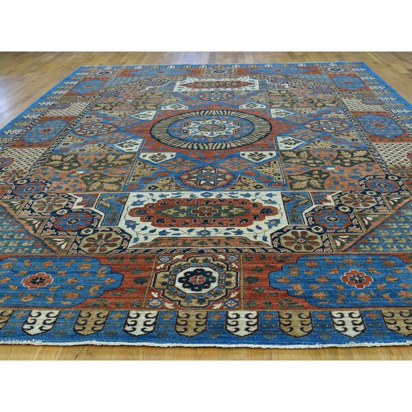 One-of-a-Kind Best Handwoven Blue Wool Area Rug by Isabelline