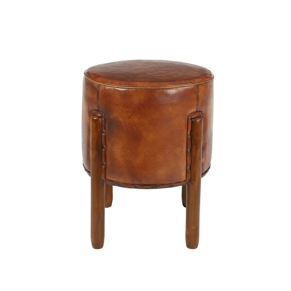 Awesome Modern Contemporary Top Grain Leather Ottoman Allmodern Theyellowbook Wood Chair Design Ideas Theyellowbookinfo