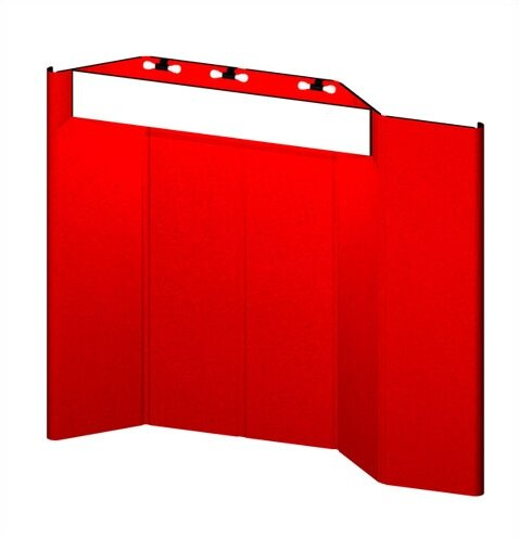 Hero H12 Full Height Exhibit Panel with Curved Edges and Backlit Header by Exhibitor's Hand Book