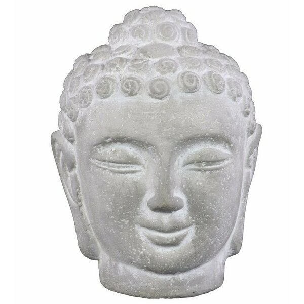 SantaMonica Cemented Buddha Head with Rounded Ushnisha by World Menagerie