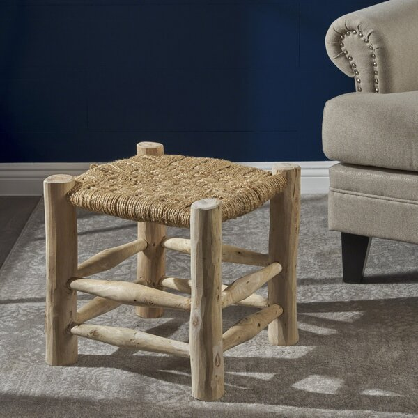 Sid Hand-Woven Accent Stool by Bungalow Rose