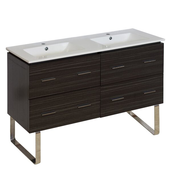Kyra Modern 48 Double Bathroom Vanity by Orren Ellis