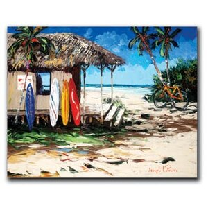 'Surf Hut' by Joseph LaPierre Painting Print on Wrapped Canvas by Hadley House Co