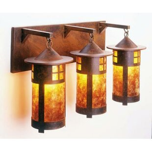 Comparison Pasadena 3-Light Outdoor Wall Lantern By Steel Partners