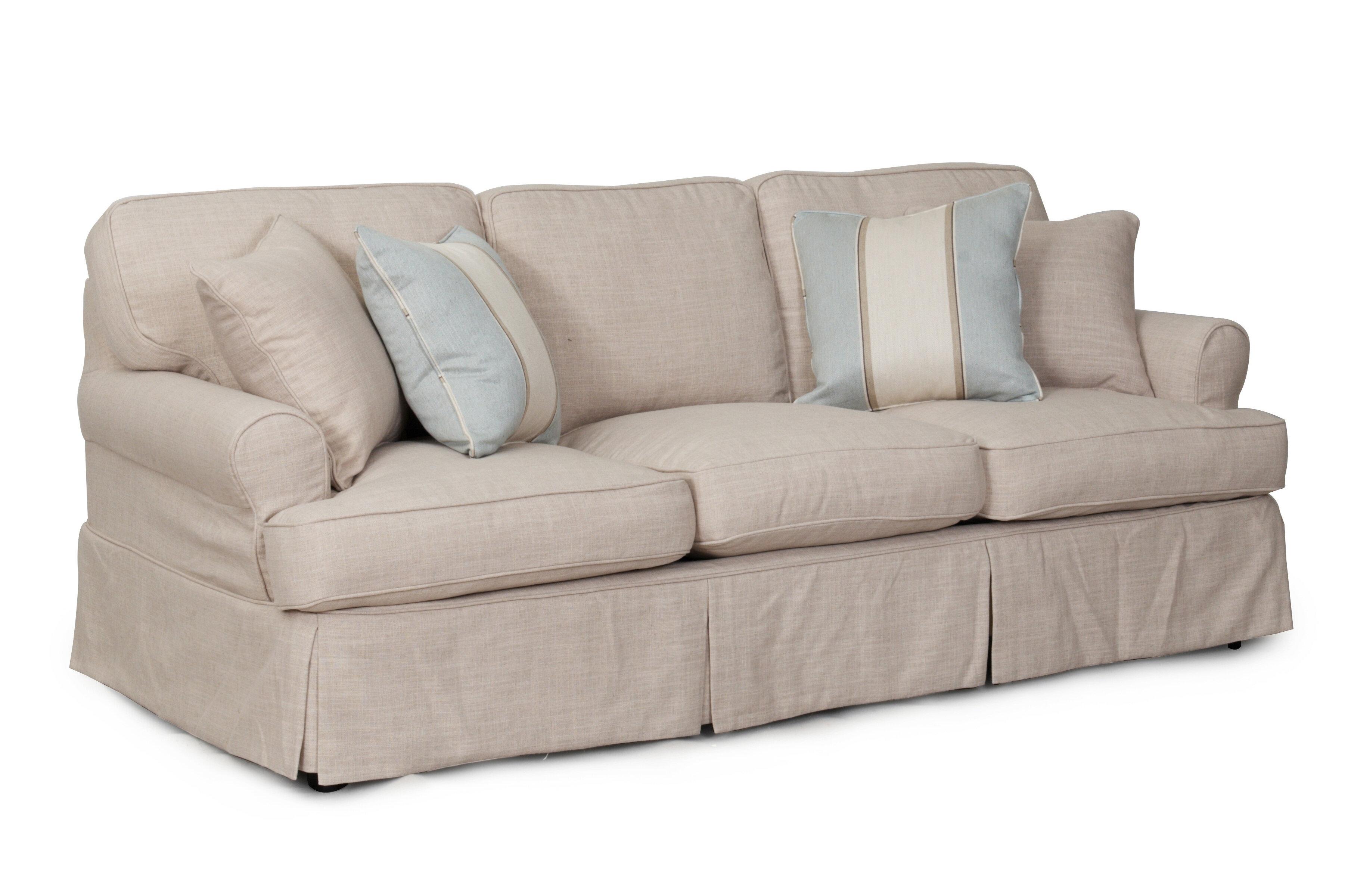 Beachcrest Home Rundle Slipcovered Sofa