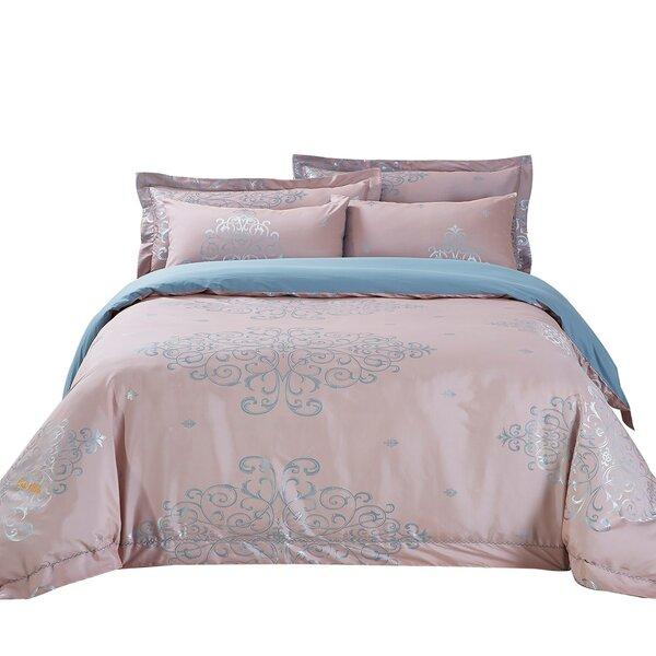 Ancona Cotton 6 Piece Reversible Duvet Cover Set