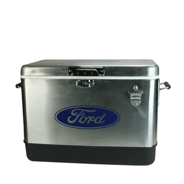 54 Qt. Stainless Steel Ford Cooler by Northlight Seasonal