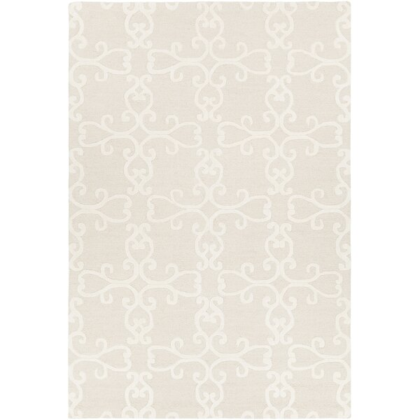 Ruggiero Hand-Tufted Beige/Cream Area Rug by One Allium Way