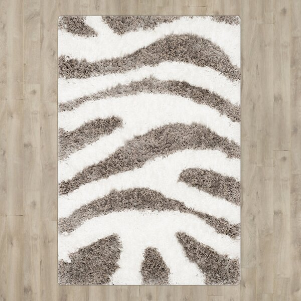 Hempstead Hand Tufted White/Gray Area Rug by Mercer41