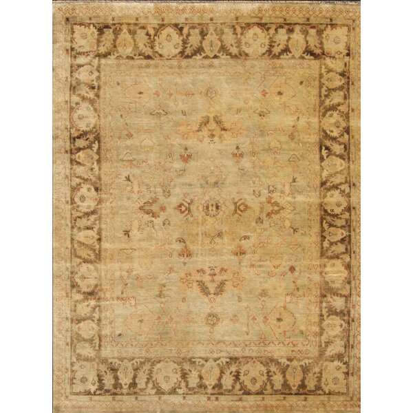 One-of-a-Kind Josephson Oushak Hand-Knotted Wool Grayish Green Area Rug by Canora Grey