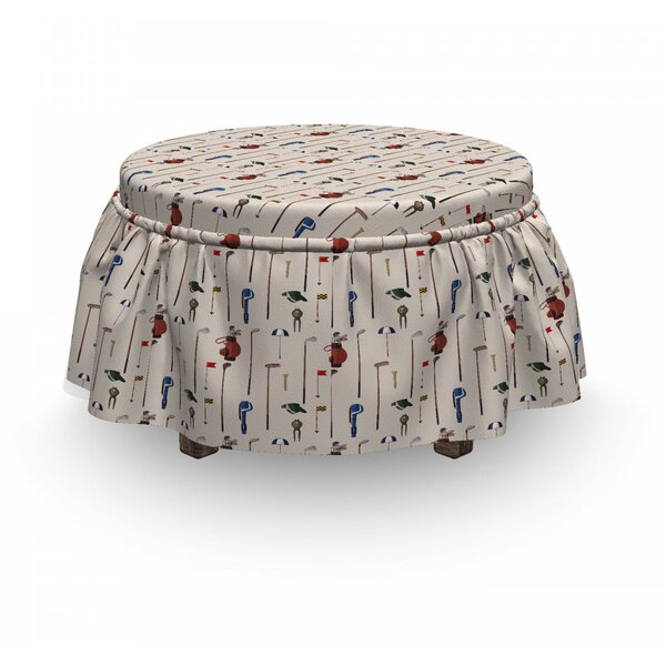 Club And Ball Sport D Ottoman Slipcover (Set Of 2) By East Urban Home