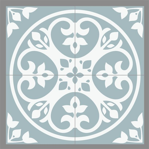 Gallery 8 x 8 Ceramic Field Tile in Olvera Light Blue by Mulia Tile