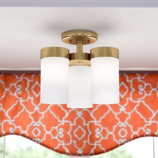 Affordable Kieron 3-Light Semi Flush Mount By Mercer41