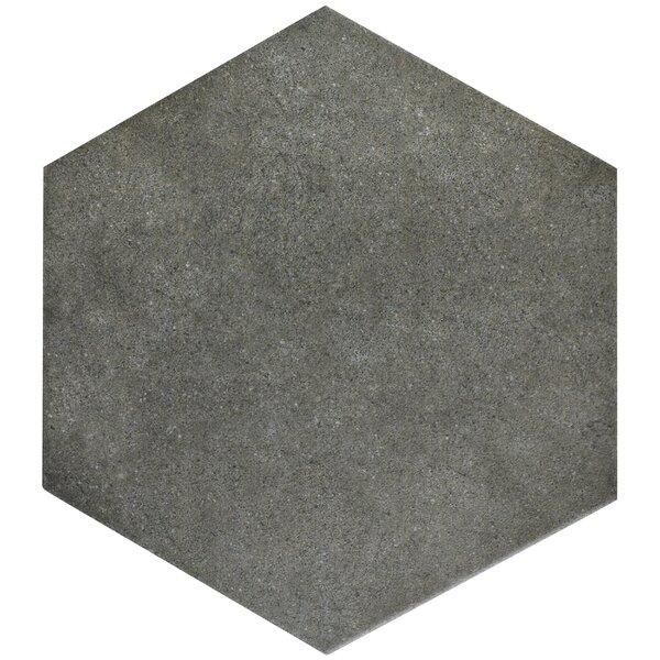 Annata 8.63 x 9.88 Porcelain Field Tile in Charcoa