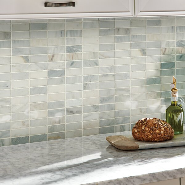 Arabescato Carrara 1'' x 3'' Marble Mosaic Tile by MSI