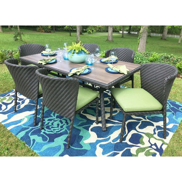 Elaine 7 Piece Dining Set with Cushions by AE Outdoor