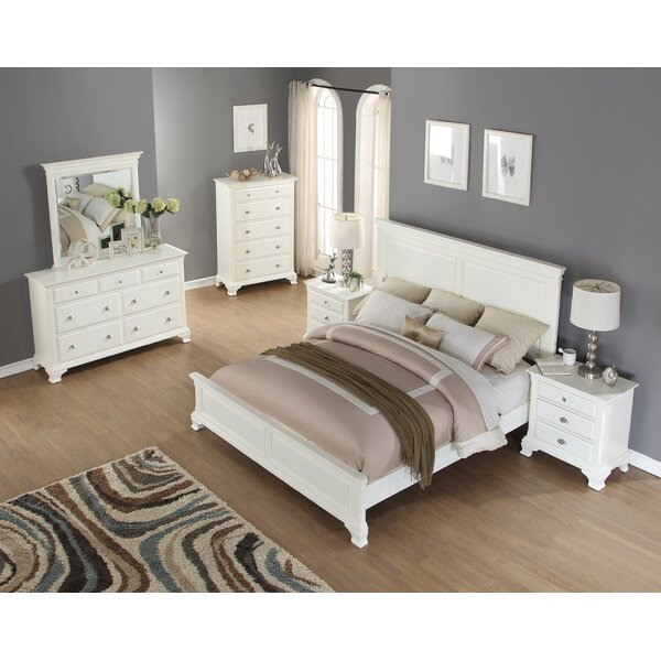Shenk Standard Solid Wood 5 Piece Bedroom Set