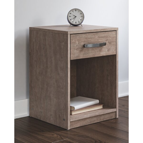 Pippa 1 - Drawer Nightstand In Gray By Union Rustic