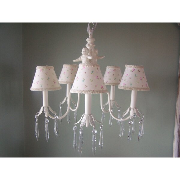 Angel Baby 5-Light Shaded Chandelier by Silly Bear Lighting