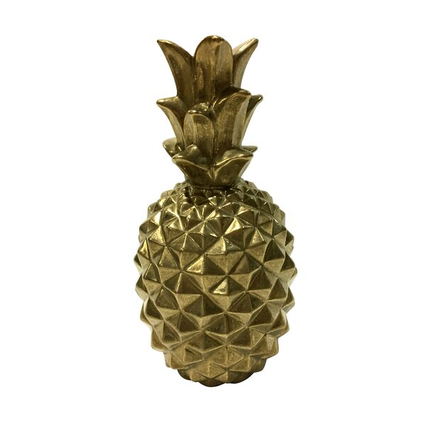 Tinsley Pineapple Decorative Bottle by Bay Isle Home